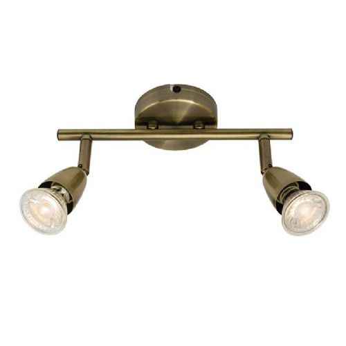 Antique brass effect plate Spotlight 60999 by Endon